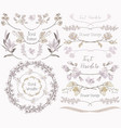 big collection of floral design elements dividers vector image vector image