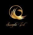 birds logo set gold vector image vector image