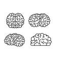 brain monochrome silhouettes several views vector image