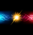 bright electric battle concept vector image vector image