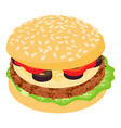 burger olives icon isometric 3d style vector image vector image