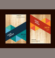 business brochure flyer geometric design layout vector image vector image