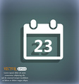 calendar page icon On the blue-green abstract vector image