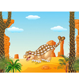 Cartoon happy ankylosaurus with prehistoric vector image vector image
