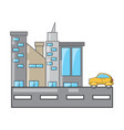 city buildings design concept vector image vector image