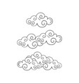cloud icon linear hand drawing white vector image vector image