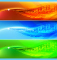 colored wave abstract background for design vector image vector image