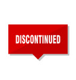 discontinued red tag vector image vector image