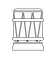 djembe drum music instrument icon image vector image vector image