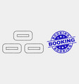 dot bricks icon and scratched booking vector image vector image