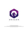 dragon logo with polygonal style vector image vector image