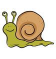 emoji a happy green-colored snail or color vector image vector image