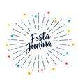 festa junina stars decoration background vector image vector image