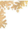 festive background with golden branches of vector image