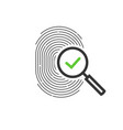 fingerprint identification check or access vector image vector image