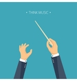 Flat background orchestra vector image