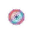 flower life symbol sacred geometry mandala logo vector image vector image