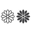 flower line and glyph icon easter and holiday vector image vector image