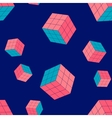 geometric seamless pattern with cubes vector image vector image