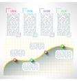 graph infographic template Chart and vector image vector image