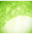green abstract triangles background vector image vector image