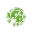 green halftone football vector image vector image
