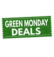 green monday deals grunge rubber stamp vector image vector image