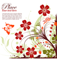grunge floral butterfly vector image vector image