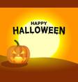 halloween pumpkin under moonlight creative vector image vector image