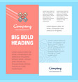 hearts blocks business company poster template vector image