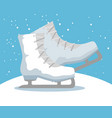 ice skates sport icon vector image