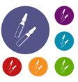 iodine sticks icons set vector image vector image