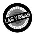 las vegas typographic stamp vector image