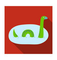 loch ness monster icon in flat style isolated on vector image vector image