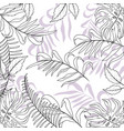 nature branches plants with exotic leaves vector image vector image