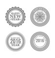 New Year set labels and emblems vector image vector image