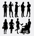 Nurse female silhouettes vector image vector image