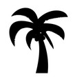 palm the black color icon vector image vector image