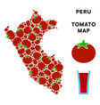 peru map collage of tomato vector image vector image