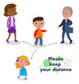 please keep your distance vector image vector image