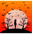 postcard invitation to halloween party vector image vector image