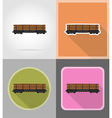 railway transport flat icons 03 vector image vector image