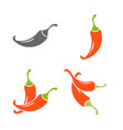 red hot chili peppers mexico icon hot vector image