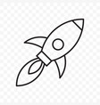 rocket thin line start up launch icon vector image vector image