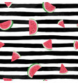 seamless background with watermelon slices on vector image vector image