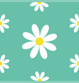 seamless pattern white daisy chamomile icon cute vector image vector image