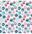 Seamless pattern with Christmas balls on white vector image vector image