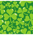 seamless pattern with clover leaf vector image vector image