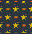 seamless pattern with stars decorative modern vector image