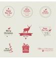 set calligraphic and typographic elements vector image
